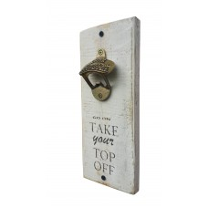 "BOTTLE OPENER - ""Top Off"" - White"