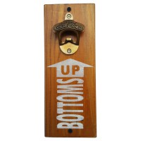 "BOTTLE OPENER - ""Bottoms Up"" - Stain"