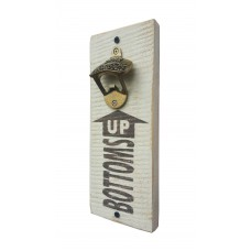 "BOTTLE OPENER - ""Bottoms Up"" - White"