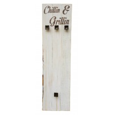 "BRAAI SET HOLDER - ""Chillin & Grillin"""