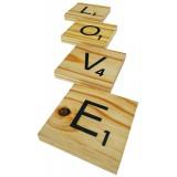 """SCRABBLE COASTERS - """"LOVE"""""""