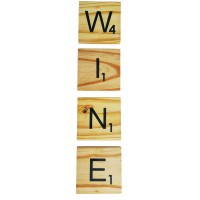 "SCRABBLE COASTERS - ""WINE"""