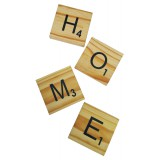 "SCRABBLE COASTERS - ""HOME"""