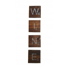 "SCRABBLE COASTERS - Dark ""WINE"""