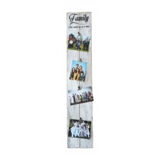 "PHOTO CLIP BOARD - ""Family"" - White"