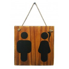 RESTROOM SIGN - Dark Stain
