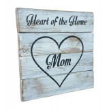 "WALL SIGN - ""Mom"" - White"
