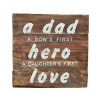 "WALL SIGN - ""Dad-Hero-Love"""