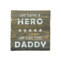 "WALL SIGN - ""Hero-Daddy"""