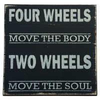 TWO WHEELS MOTORCYCLE SIGN
