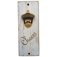 "BOTTLE OPENER - ""Cheers"" White"