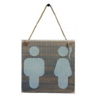 RESTROOM SIGN - Light Grey