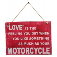 MOTORCYCLE LOVE SIGN - Red