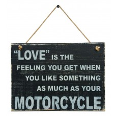 MOTORCYCLE LOVE SIGN - Black