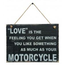 MOTORCYCLE LOVE SIGN - Black