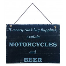 MOTORCYCLE HAPPINESS SIGN - Beer