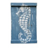 SEA HORSE - White on Blue